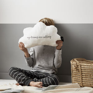 'My Dreams Are Calling' Cloud Linen Cushion - new in baby & child