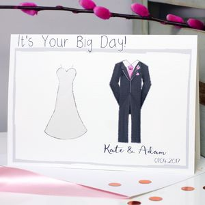 Personalised Bride And Groom Wedding Card