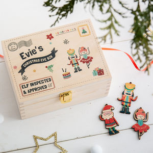 Personalised Nutcracker And Ballerina Christmas Eve Box - christmas eve