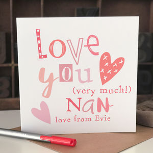 Personalised Mother's Day Card For Nan - whats new