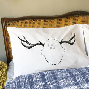 Personalised Christmas Reindeer Pillowcase Gift