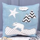Personalised Bear Baby Cushion