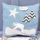 Personalised Bear Baby Cushion