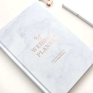 Wedding Planner Book Marble Rose Gold Foil