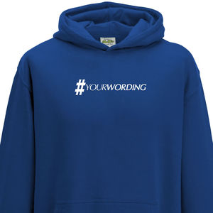 Personalised Child Hashtag Hoodie