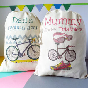 Personalised Cycling Storage Bag - storage & organisers