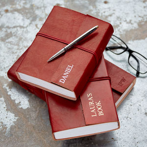 Personalised Fair Trade Larger Leather Journals - winter sale