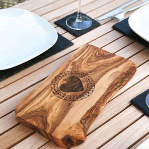 Personalised Geometrically Engraved Cheese Board