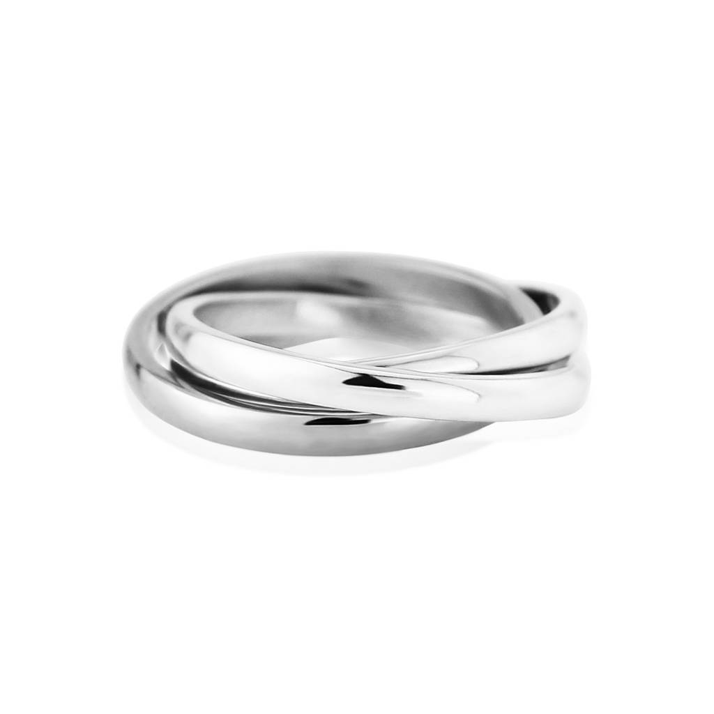 Solid White Gold Russian Wedding Ring