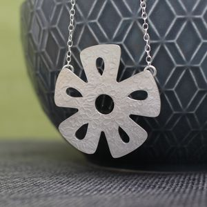 Sterling Silver Watercolour Daisy Necklace