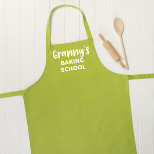 Granny's Baking School Personalised Apron