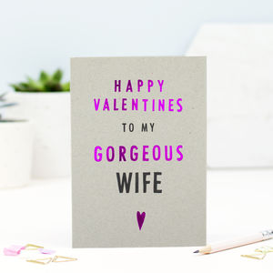 Valentines Wife Card - valentine's cards