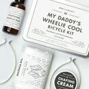 'My Daddy's Wheelie Cool' Cycling Gift Set