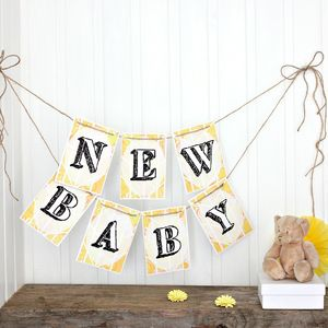 Baby Shower Bunting 'New Baby' Bunting - bunting & garlands