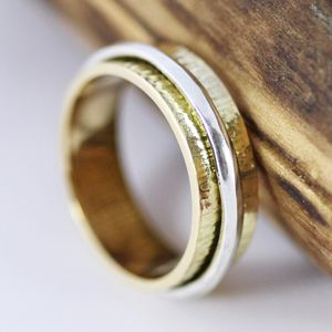 Scottish Gold Spinner Ring Size N - jewellery sale