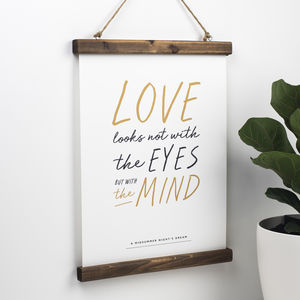 Romantic Shakespeare Print Choice Of Two - engagement gifts