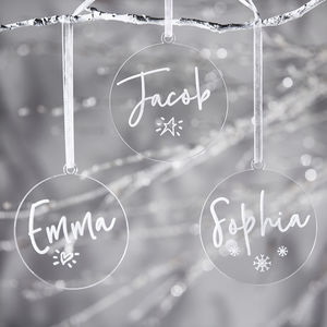 Personalised Engraved Christmas Decoration - christmas decorations