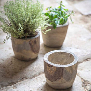 Handmade Wooden Bothy Plant Pot - artisan decor