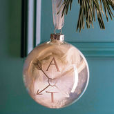 Couple Monogram Bauble - christmas decorations