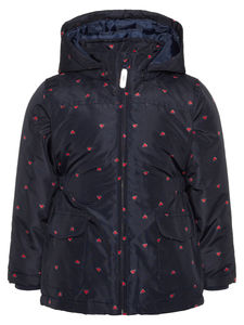 Heart Printed Winter Jacket - coats & jackets