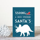Triceratops Fun Fact Dinosaur Christmas Card