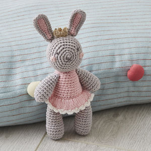Hand Crochet Princess Bunny Baby Rattle - baby care