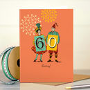 Funny 60th Birthday Card '60 Hooray!'