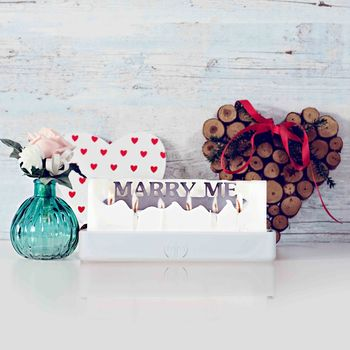 'Marry Me' Hidden Message Candle
