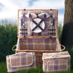 Grey Or Autumn Tartan Hamper | Two Person - weddings sale