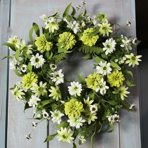 Citrus Meadow Flower And Daisy Wreath - new in home