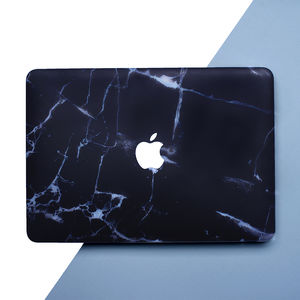 Black Marble Macbook Case, Air Pro Retina, 12 13 15 - laptop bags & cases
