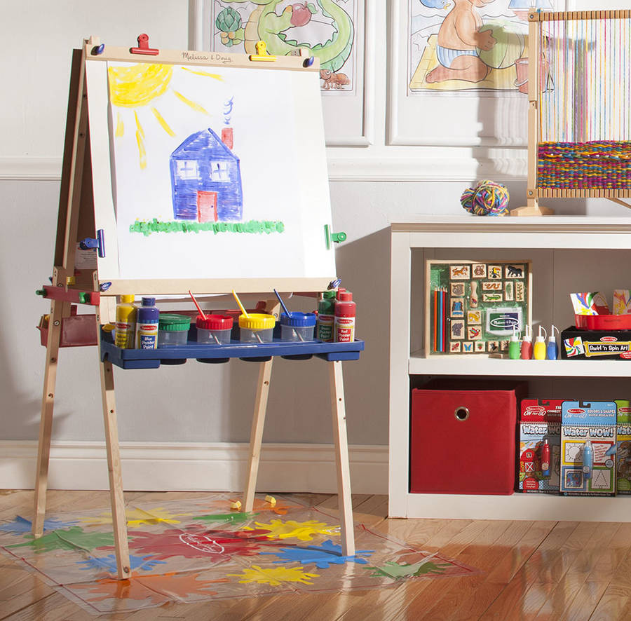 Deluxe Easel And Paint Pots Set