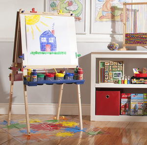 Deluxe Easel And Paint Pots Set - traditional toys & games