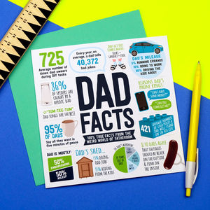 Dad Facts Card - general birthday cards