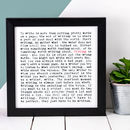 Writing Print; Gift For Writers And Authors