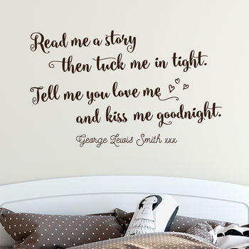 Personalised Read Me A Story Children's Wall Sticker