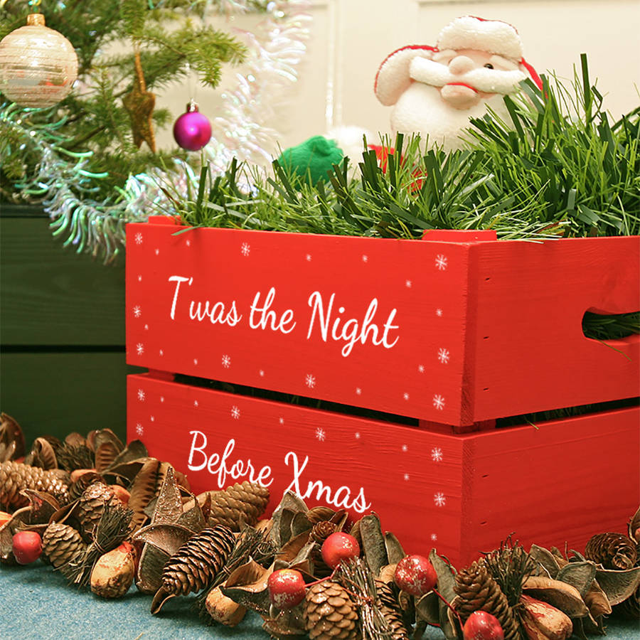 personalised small christmas box - Wooden Box Christmas Decorations