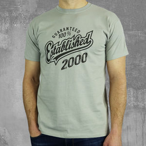 'Established 2000' 18th Birthday Gift T Shirt