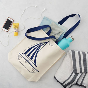 Anchor And Boat Canvas Bag - womens