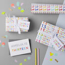 13th Birthday Wrapping Paper Set