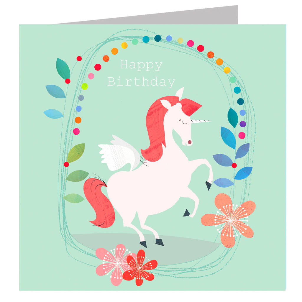 Happy Birthday Sparkly Unicorn Card