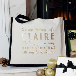Personalised Christmas Message Bag - for sisters
