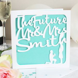Personalised Future Mr And Mrs Engagement Card