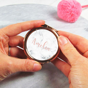Personalised Rose Gold Compact Mirror - new in health & beauty