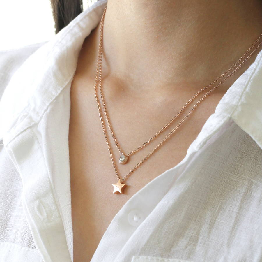 Rose Gold Layered Necklace By Attic Notonthehighstreet Com