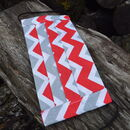 Red and grey chevron