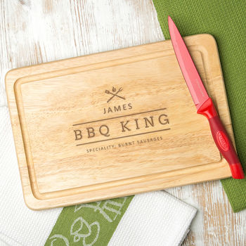 Personalised 'Bbq King' Mens Chopping Board