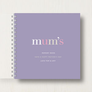 Personalised 'Mum's' Memory Book