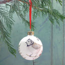 Winter Birds Fine Bone China Christmas Bauble