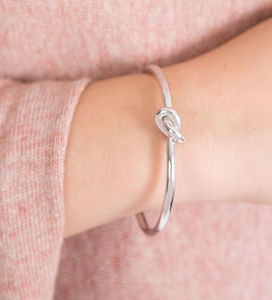 Friendship And Love Knot Bangle - bracelets & bangles